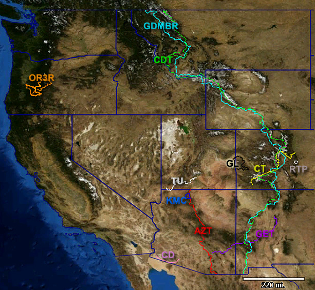 Western US bikepacking routes