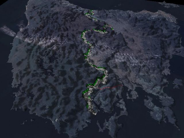 <a href=http://topofusion.com>TopoFusion</a> 3D view of the Tasmanian Trail