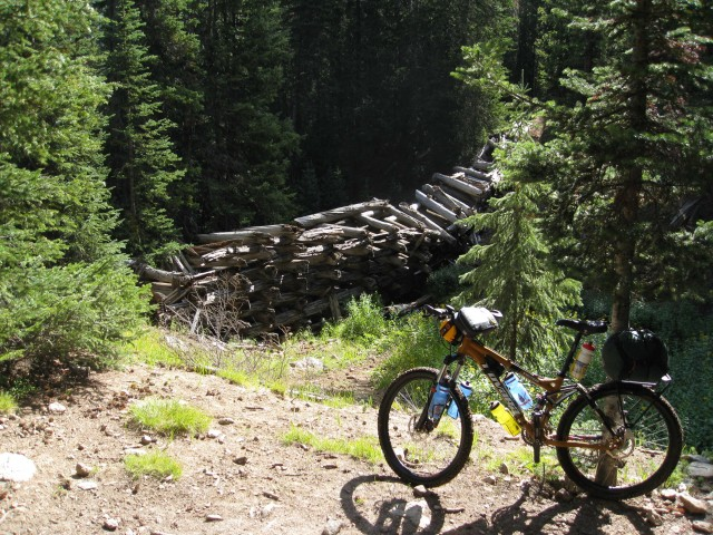 old trestle bridge on flume trails above Breckenridge