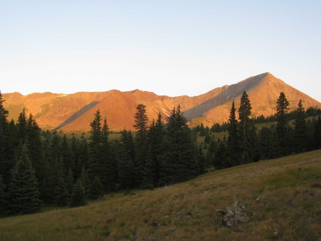 Sunrise on Mount Guyot