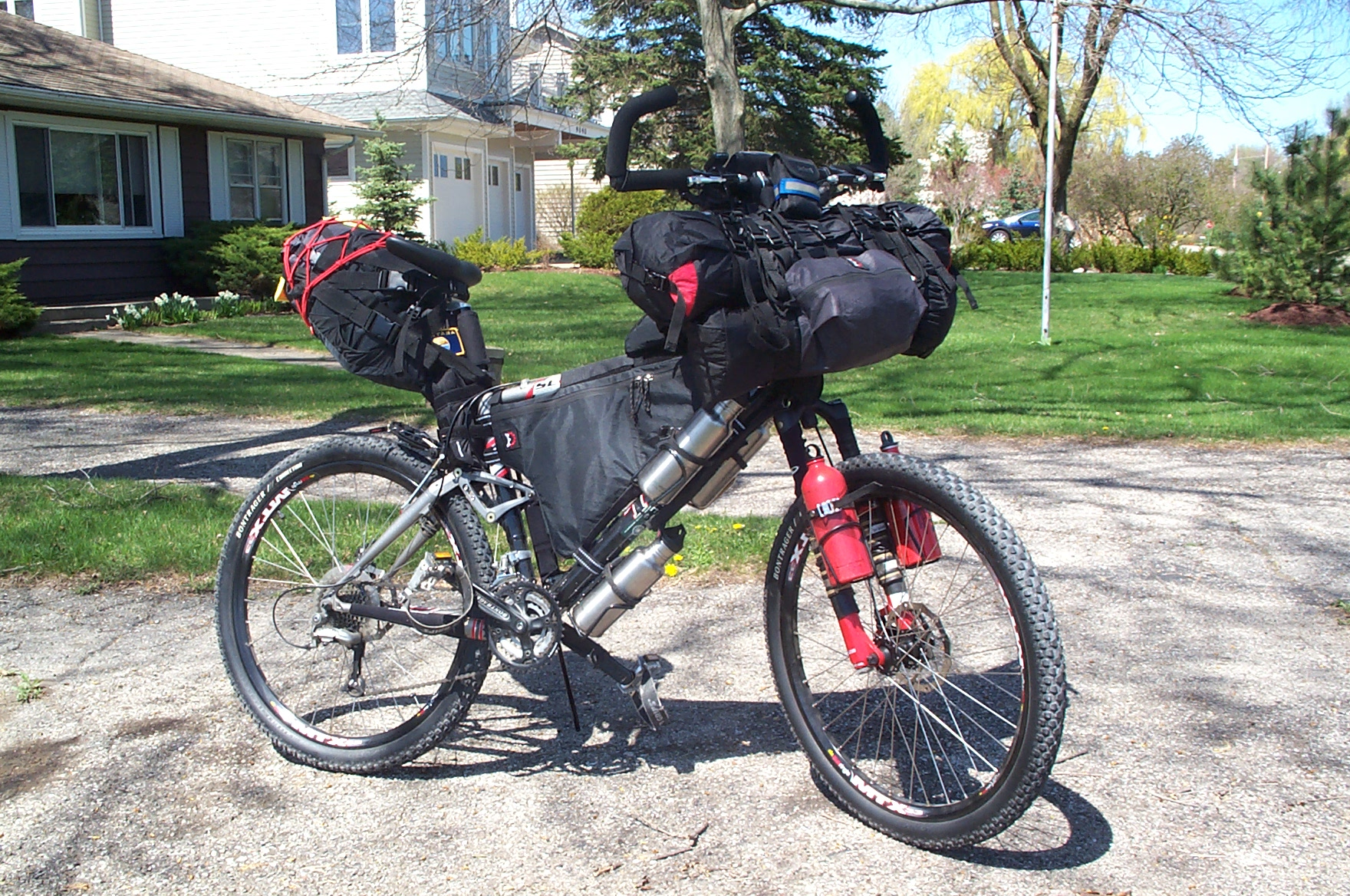 how to go mountain biking without a bag