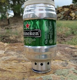 Heiney pot and alcohol stove