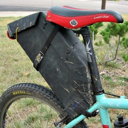 Homemade bikepacking seat bag