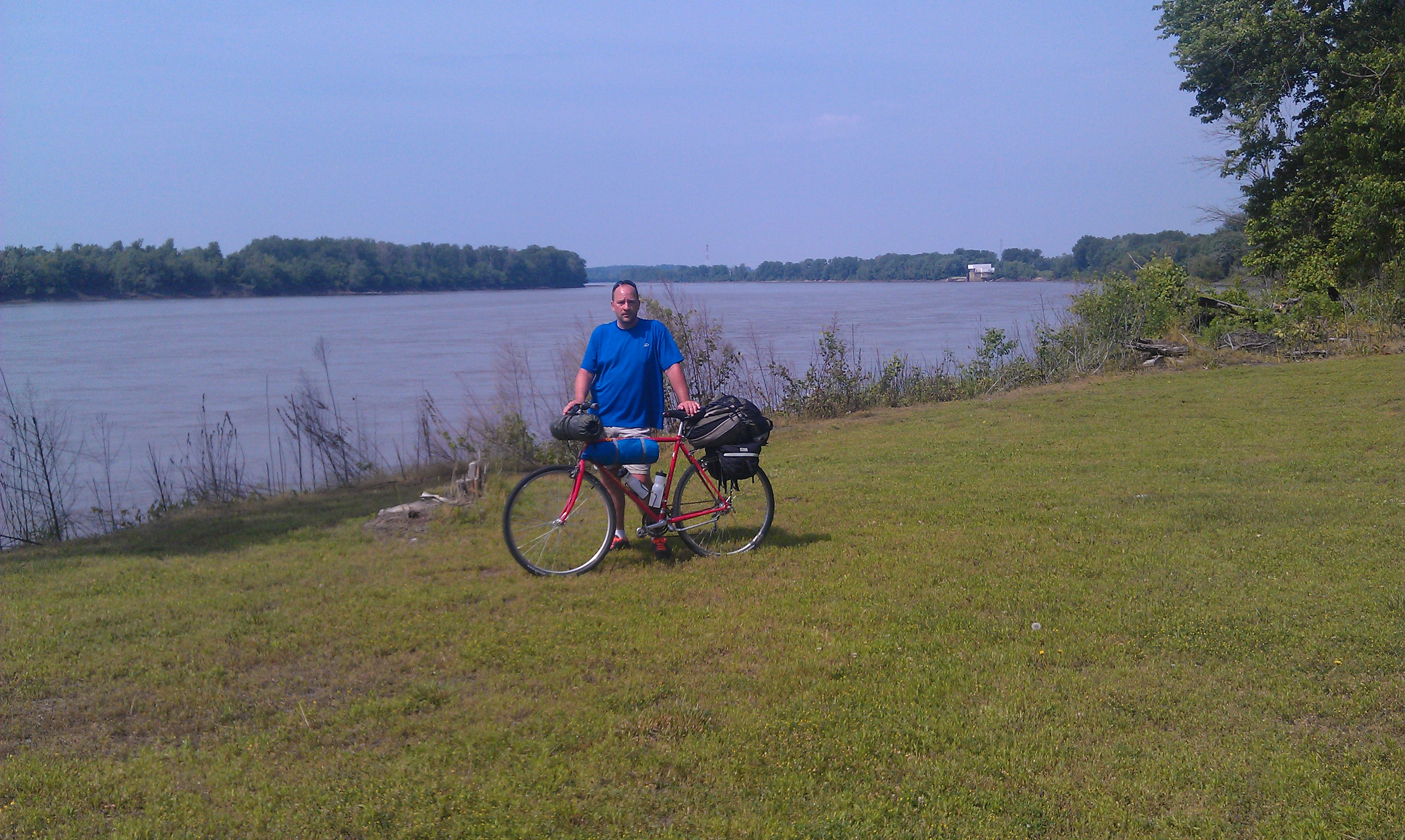 Me and My Gear at the River & bikepacking.net u003e Eastern USA u003e By Gravel And Rail u2014 A Ride on the ...