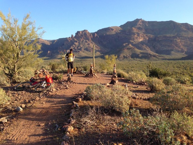 Our campsite for day 1, top of the Vortex in Gold Canyon.