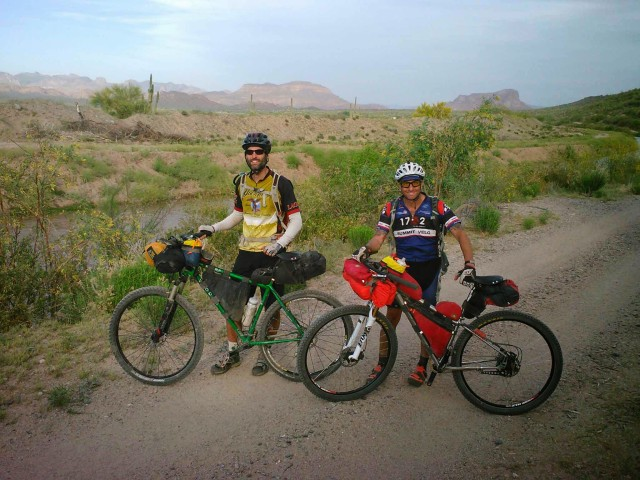 Two very happy bikepackers at Arturo's SAG stop.